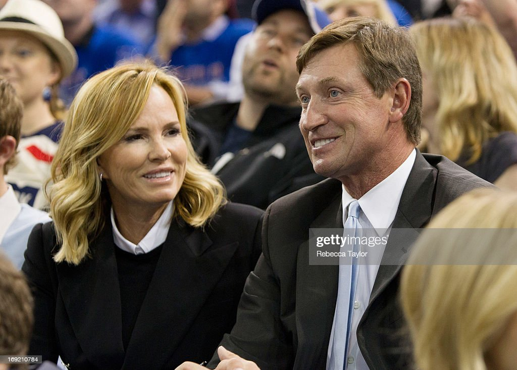Wayne Gretzky watches the New York Rangers play against the Boston Bruins in Game Three of the Eastern Conference Semifinals during the 2013 NHL Stanley Cup Playoffs at Madison Square Garden on May 21, 2013 in New York City.