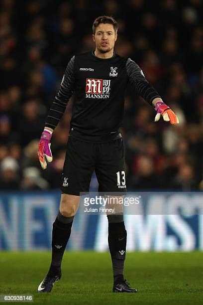 Wayne Hennessey goalkeeper of Crystal Palace gives instructions during the Premier League match between Crystal Palace and Swansea City at Selhurst...