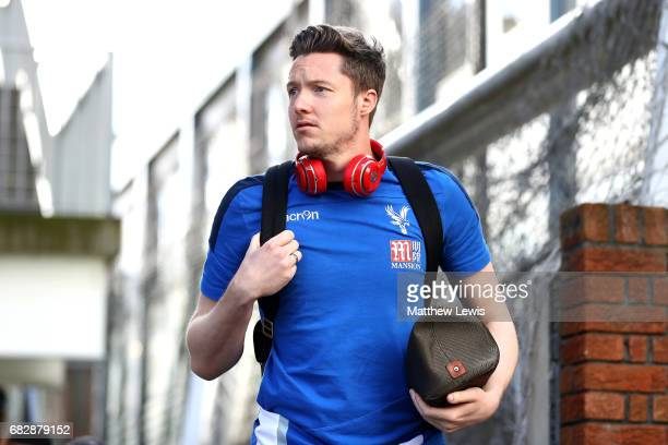 Wayne Hennessey of Crystal Palace arrives at the stadium prior to the Premier League match between Crystal Palace and Hull City at Selhurst Park on...
