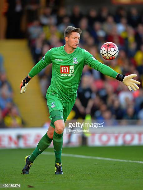 Wayne Hennessey of Crystal Palace during the Barclays Premier League match between Watford and Crystal Palace at Vicarage Road on September 27 2015...