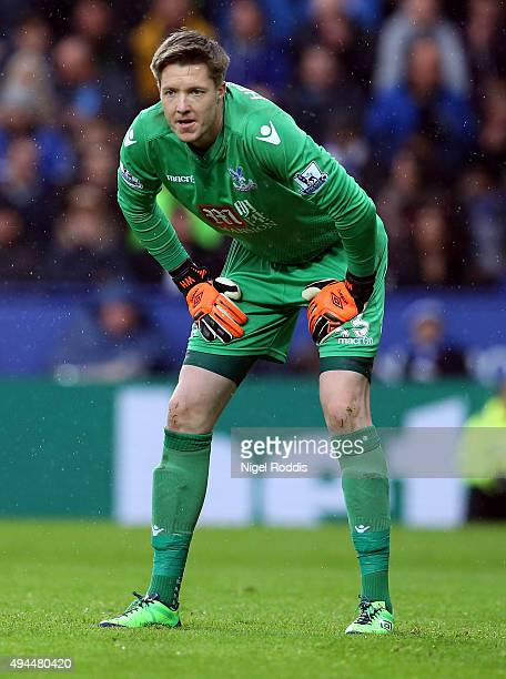 Wayne Hennessey of Crystal Palace during the Barclays Premier League match between Leicester City and Crystal Palace at The King Power Stadium on...
