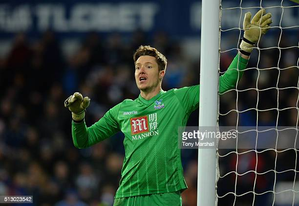 Wayne Hennessey of Crystal Palace during the Barclays Premier League match between West Bromwich Albion and Crystal Palace at The Hawthorns on...