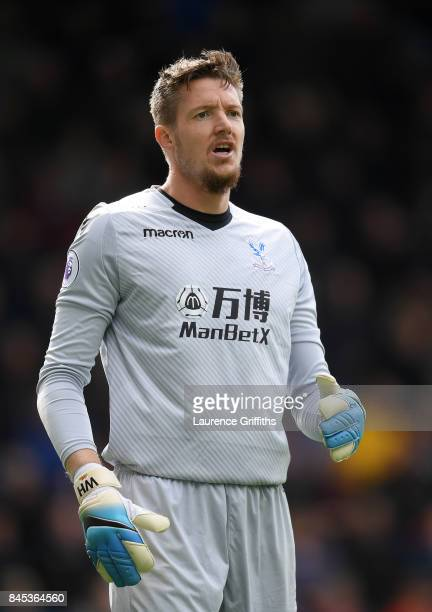 Wayne Hennessey of Crystal Palace looks on during the Premier League match between Burnley and Crystal Palace at Turf Moor on September 10 2017 in...