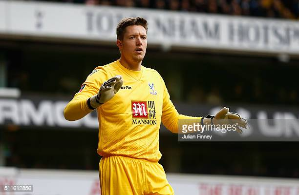 Wayne Hennessey of Palace looks on during the Emirates FA Cup fifth round match between Tottenham Hotspurs and Crystal Palace at White Hart Lane on...