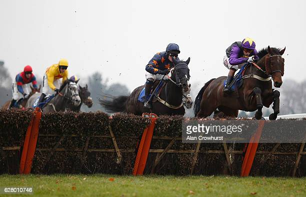 Wayne Hutchinson riding Rainbow Dreamer clear the last to win The Axio Special Works Christmas Raceday Juvenile Hurdle Race at Fontwell Park on...