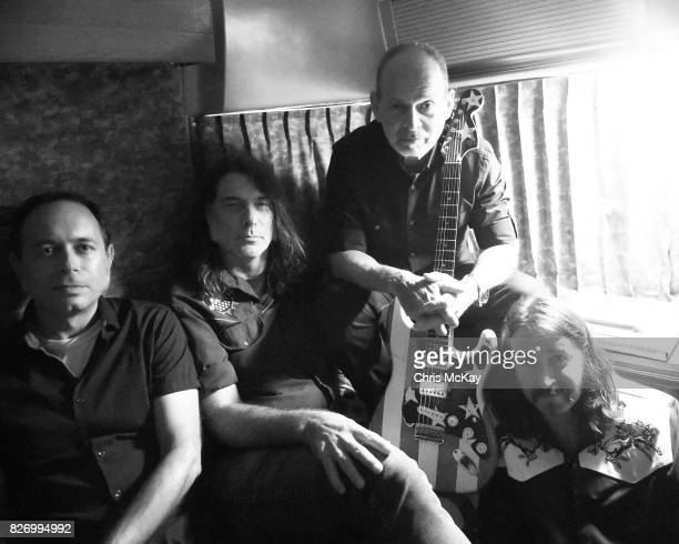 Wayne Kramer and his band Adam Renshaw Shannon Mulvaney and Adam McIntye wait backstage before performing at the Artist2Artist Benefit For Homeless...