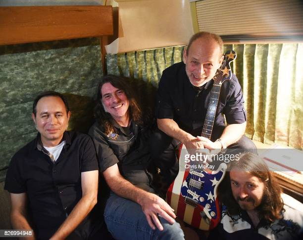 Wayne Kramer and his band members Adam Renshaw Shannon Mulvaney and Adam McIntyre wait backstage to perform during the Artist2Artist benefit for...
