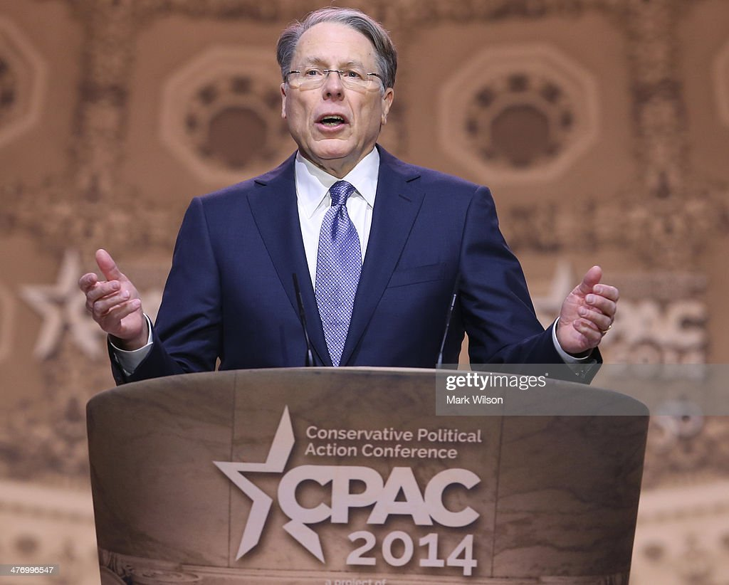 <a gi-track='captionPersonalityLinkClicked' href=/galleries/search?phrase=Wayne+LaPierre&family=editorial&specificpeople=2488494 ng-click='$event.stopPropagation()'>Wayne LaPierre</a>, executive vice president and CEO at the National Rifle Association speaks at the CPAC Conference, on March 6, 2014 in National Harbor, Maryland. The American Conservative Union (CPAC) held its 41st annual Conservative Political conference at the Gaylord International Hotel.