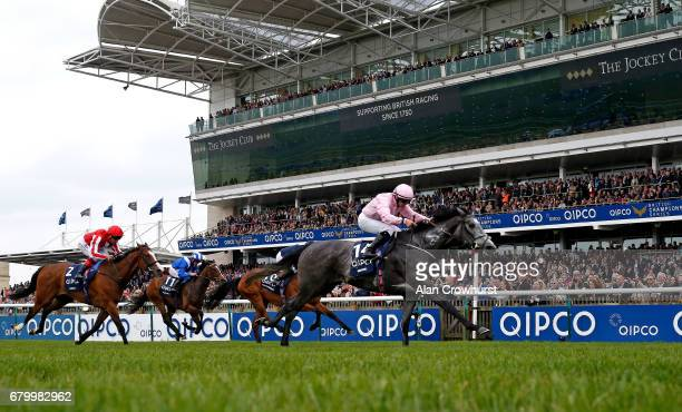 Wayne Lordon riding Winter win The Qipco 1000 Guineas Stakes at Newmarket Racecourse on May 7 2017 in Newmarket England