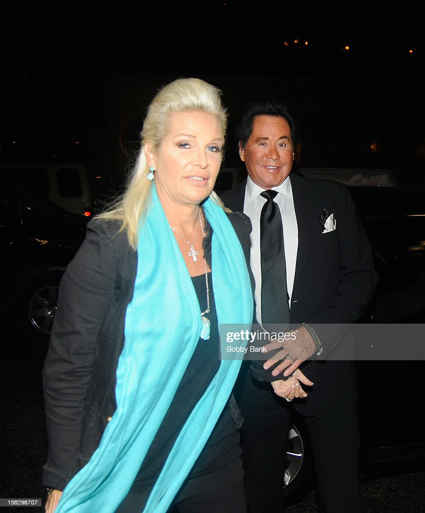 <a gi-track='captionPersonalityLinkClicked' href=/galleries/search?phrase=Wayne+Newton&family=editorial&specificpeople=213441 ng-click='$event.stopPropagation()'>Wayne Newton</a> and Kathleen McCrone Newton filming on location for 'Celebrity Apprentice All Stars' on November 12, 2012 in New York City.