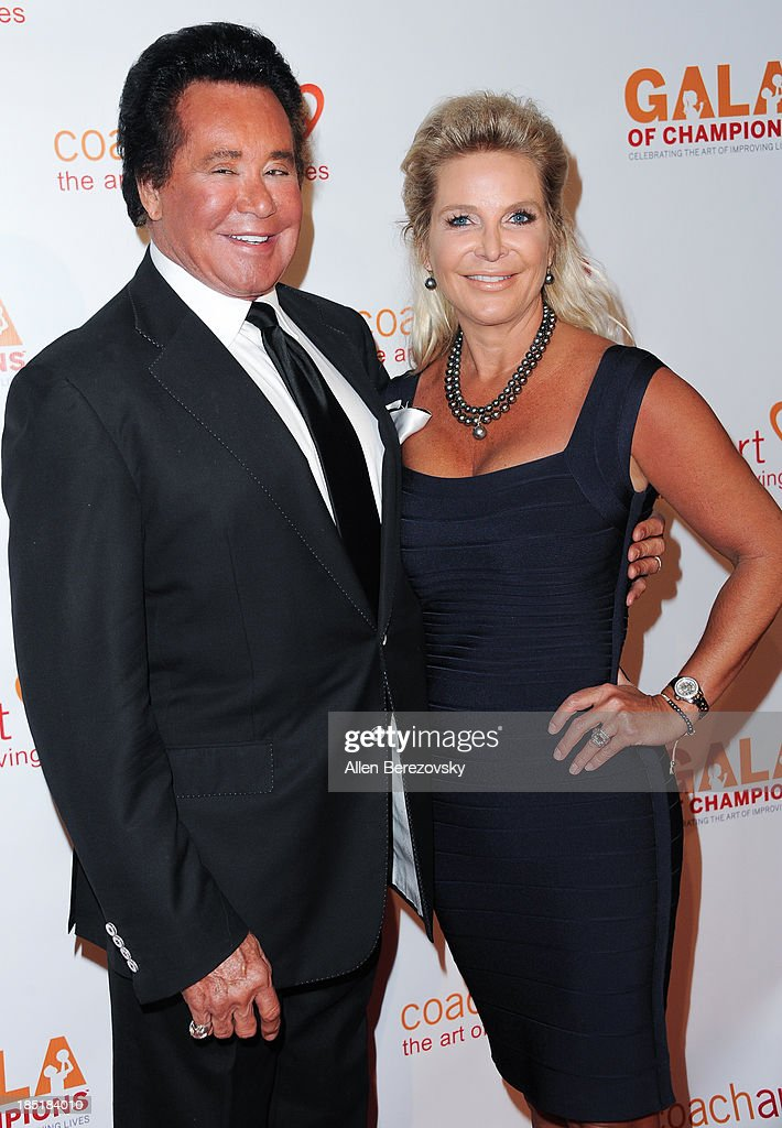 <a gi-track='captionPersonalityLinkClicked' href=/galleries/search?phrase=Wayne+Newton&family=editorial&specificpeople=213441 ng-click='$event.stopPropagation()'>Wayne Newton</a> and wife Kathleen McCrone attend the CoachArt Gala of Champions at The Beverly Hilton Hotel on October 17, 2013 in Beverly Hills, California.