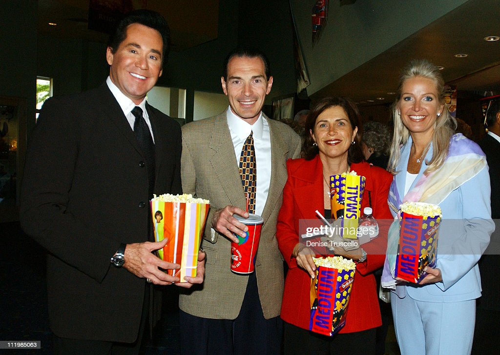 Wayne Newton Chairman and CEO of MGM Alex Yemenidjian with wife Arda and Mrs Newton at the advance screening of John Woo's 'Windtalkers'