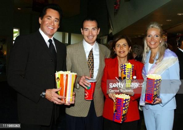 Wayne Newton Chairman and CEO of MGM Alex Yemenidjian with wife Arda and Mrs Newton at the advance screening of John Woo's 'Windtalkers'