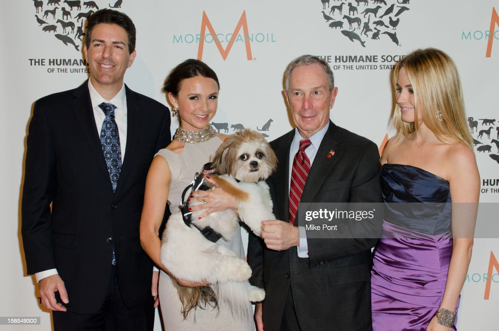 Wayne Pacelle, Georgina Bloomberg, Mayor <a gi-track='captionPersonalityLinkClicked' href=/galleries/search?phrase=Michael+Bloomberg&family=editorial&specificpeople=171685 ng-click='$event.stopPropagation()'>Michael Bloomberg</a> and <a gi-track='captionPersonalityLinkClicked' href=/galleries/search?phrase=Amanda+Hearst&family=editorial&specificpeople=209166 ng-click='$event.stopPropagation()'>Amanda Hearst</a> attend The Humane Society of the United States presents the To The Rescue! gala benefiting post hurricane Sandy efforts at Cipriani 42nd Street on December 18, 2012 in New York City.