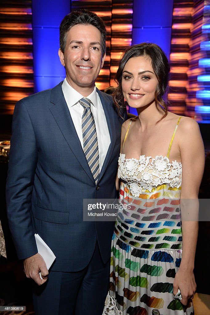 Wayne Pacelle is the President and Chief Executive Officer of the Humane Society of the United States (L) and actress Phoebe Tonkin attend the Humane Society of The United States 60th Anniversary Gala at The Beverly Hilton Hotel on March 29, 2014 in Beverly Hills, California.