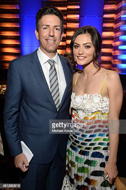 Wayne Pacelle is the President and Chief Executive Officer of the Humane Society of the United States and actress Phoebe Tonkin attend the Humane...