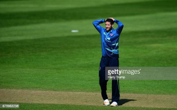 Wayne Parnell of Kent reacts during the Royal London OneDay Cup match between Somerset and Kent at The Cooper Associates County Ground on May 2 2017...