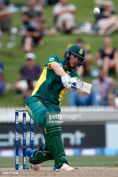 Wayne Parnell of South Africa bats during game four of the One Day International series between New Zealand and South Africa at on March 1 2017 in...