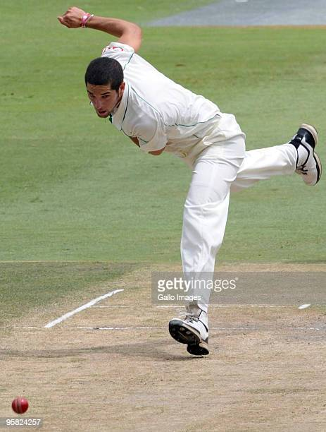 Wayne Parnell of South Africa during day 4 of the 4th Test match between South Africa and England from Bidvist Wanderers on January 17 2010 in...