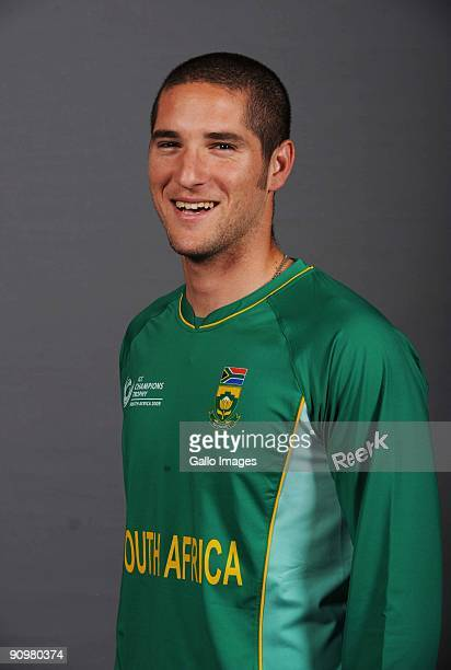 Wayne Parnell of South Africa poses during an ICC Champions photocall session at Sandton Sun on September 19 2009 in Sandton South Africa