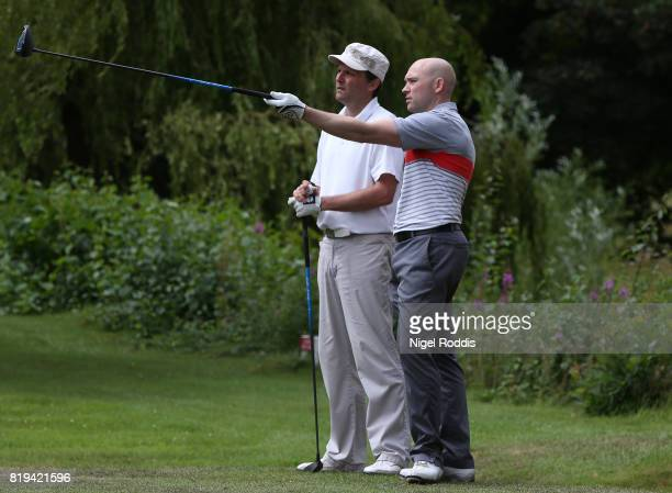 Wayne Pendlebury of Willow Valley Golf and Julian Haworth of Willow Valley Golf during the Golfbreakscom PGA Fourball Championship North Qualifier at...