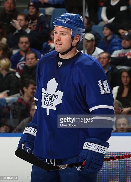 Wayne Primeau of the Toronto Maple Leafs skates against the New York Islanders on December 23 2009 at Nassau Coliseum in Uniondale New York Islanders...
