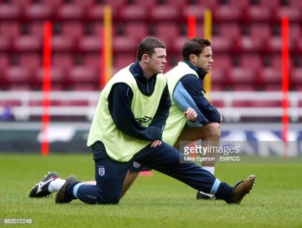 Wayne Rooney at today's England training at Upton Park