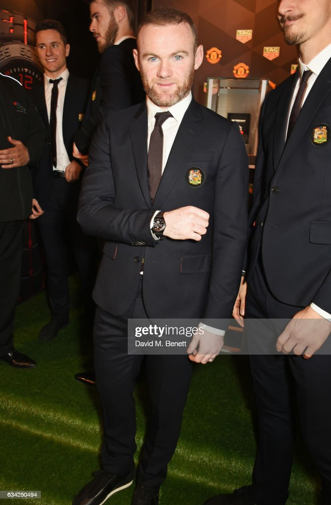 Wayne Rooney attends the launch of the TAG Heuer Manchester United partnered special editions at Old Trafford on February 8, 2017 in Manchester, England.