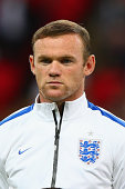 Wayne Rooney Captain of England looks on prior to the International friendly match between England and Norway at Wembley Stadium on September 3 2014...