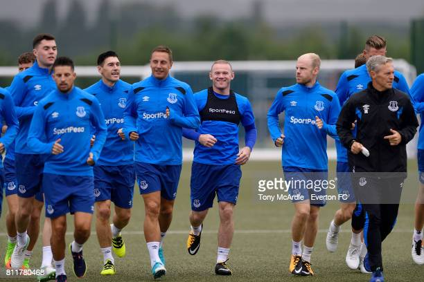 Wayne Rooney during the Everton training session at USM Finch Farm on July 10 2017 in Halewood England