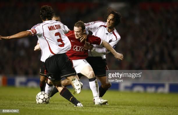 Wayne ROONEY entre MALDINI et NESTA Manchester united / Milan AC 1/2 Finale CHampions League 2006/2007