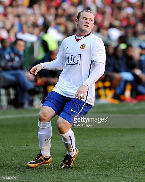 Wayne Rooney in action during the Vodacom Challenge match between Kaizer Chiefs and Manchester United at Newlands Stadium on July 19 2008 in Cape...