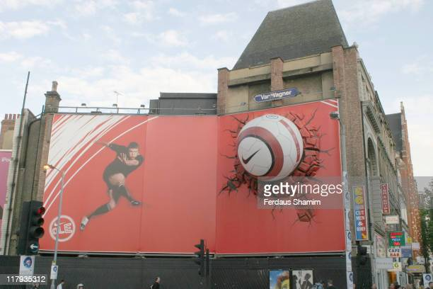 Wayne Rooney in new Nike ad campaign during Wayne Rooney in New Nike Ad Campaign June 21 2004 at Centrepoint London in London England Great Britain