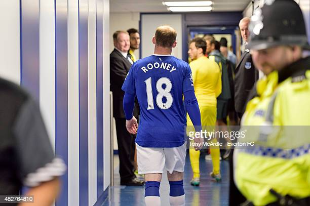 Wayne Rooney in the Everton Tunnel after the Duncan Ferguson's preseason testimonial match between Everton and Villarreal at Goodison Park on August...