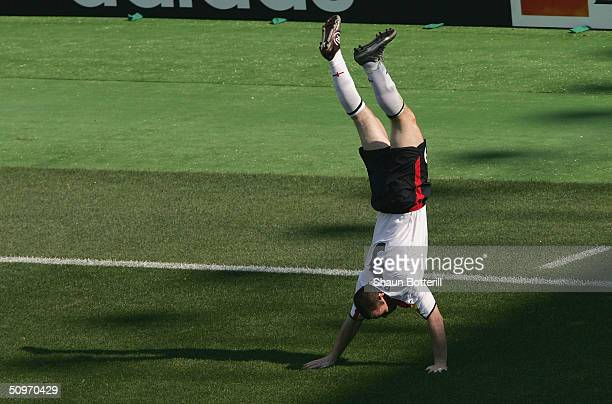 Wayne Rooney of England celebrates after scoring during the UEFA Euro 2004 Group B match between England and Switzerland at the Estadio Cidade de...