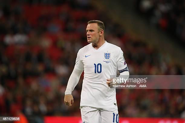 Wayne Rooney of England during the UEFA EURO 2016 Qualifier Group E England v Switzerland on September 8 2015 in London United Kingdom