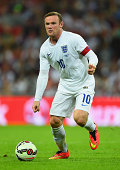 Wayne Rooney of England in action during the International friendly match between England and Norway at Wembley Stadium on September 3 2014 in London...