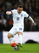 Wayne Rooney of England in action during the International Friendly match between England and France at Wembley Stadium on November 17 2015 in London...