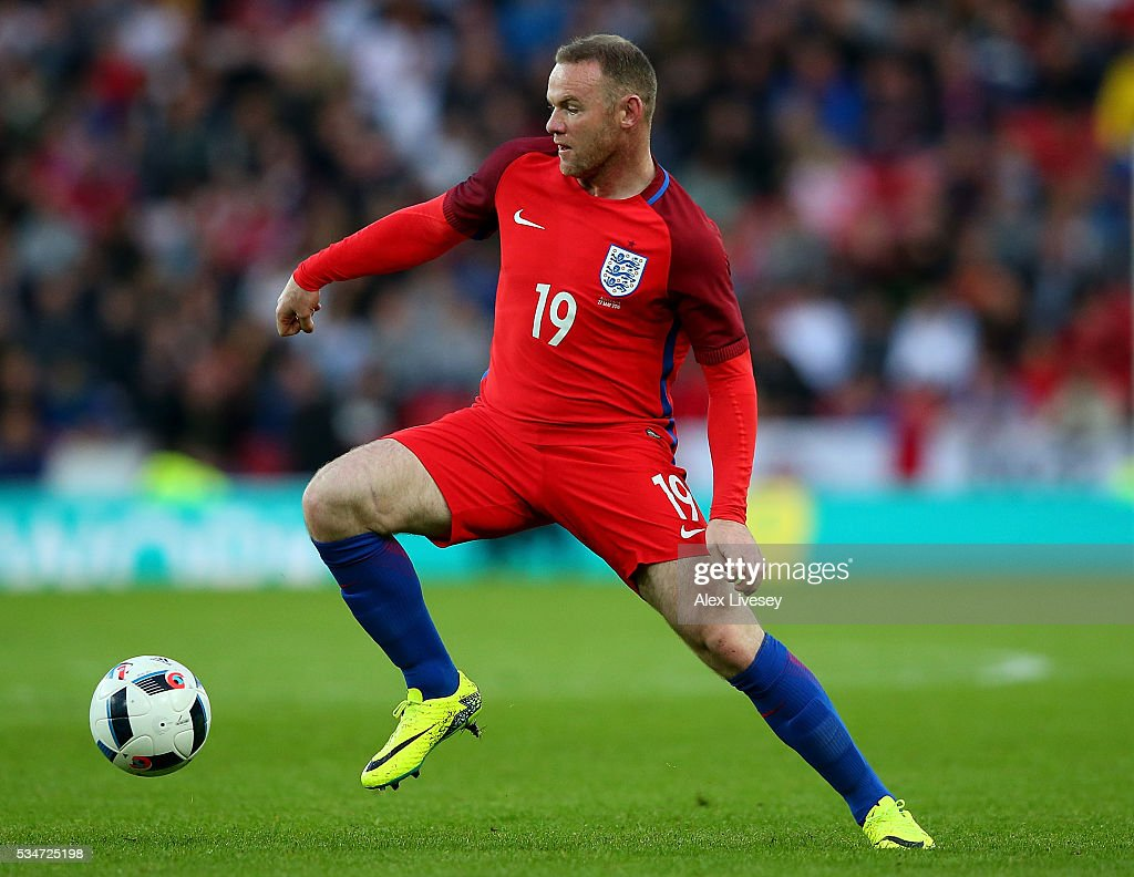 <a gi-track='captionPersonalityLinkClicked' href=/galleries/search?phrase=Wayne+Rooney&family=editorial&specificpeople=157598 ng-click='$event.stopPropagation()'>Wayne Rooney</a> of England in action during the International Friendly match between England and Australia at Stadium of Light on May 27, 2016 in Sunderland, England.