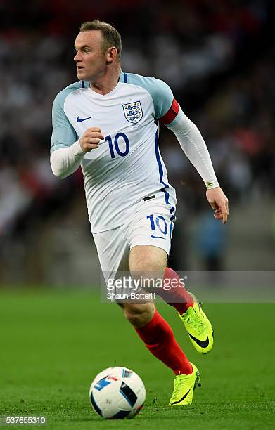 Wayne Rooney of England in action during the international friendly match between England and Portugal at Wembley Stadium on June 2 2016 in London...