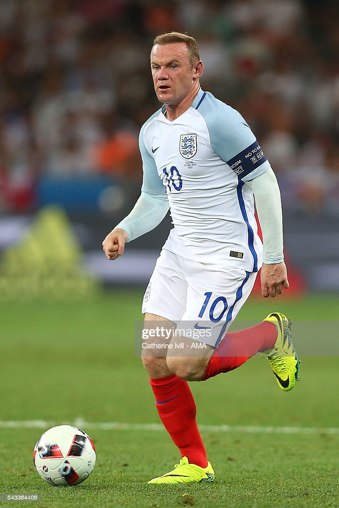 <a gi-track='captionPersonalityLinkClicked' href=/galleries/search?phrase=Wayne+Rooney&family=editorial&specificpeople=157598 ng-click='$event.stopPropagation()'>Wayne Rooney</a> of England in action during the UEFA Euro 2016 Round of 16 match between England and Iceland at Allianz Riviera Stadium on June 27, 2016 in Nice, France.