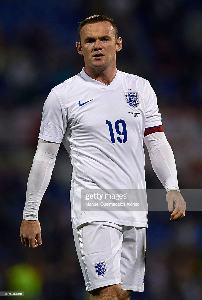 Wayne Rooney of England looks on during the international friendly match between Spain and England at Jose Rico Perez Stadium on November 13, 2015 in Alicante, Spain.