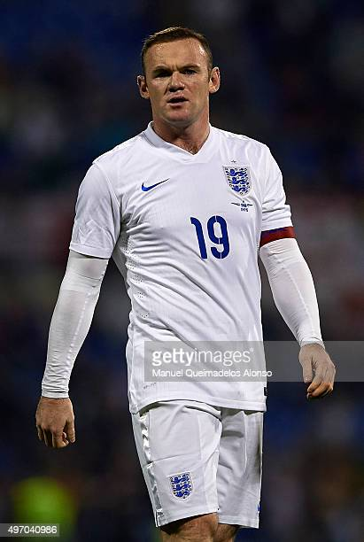 Wayne Rooney of England looks on during the international friendly match between Spain and England at Jose Rico Perez Stadium on November 13 2015 in...
