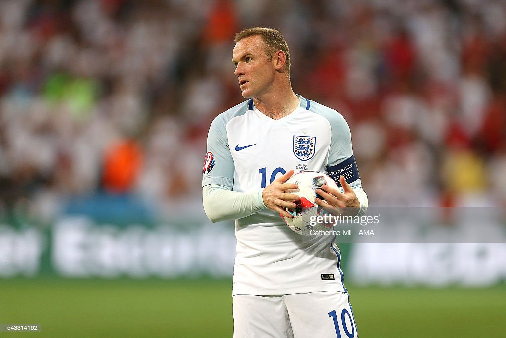<a gi-track='captionPersonalityLinkClicked' href=/galleries/search?phrase=Wayne+Rooney&family=editorial&specificpeople=157598 ng-click='$event.stopPropagation()'>Wayne Rooney</a> of England looks on during the UEFA Euro 2016 Round of 16 match between England and Iceland at Allianz Riviera Stadium on June 27, 2016 in Nice, France.