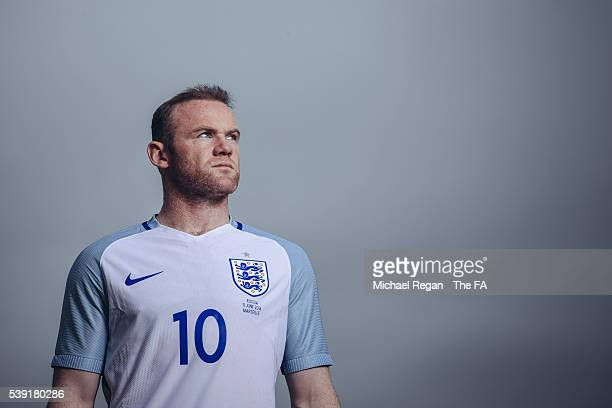 FILTERS Wayne Rooney of England poses after a training session ahead of the Euro 2016 game against Russia on June 8 2016 in Chantilly France