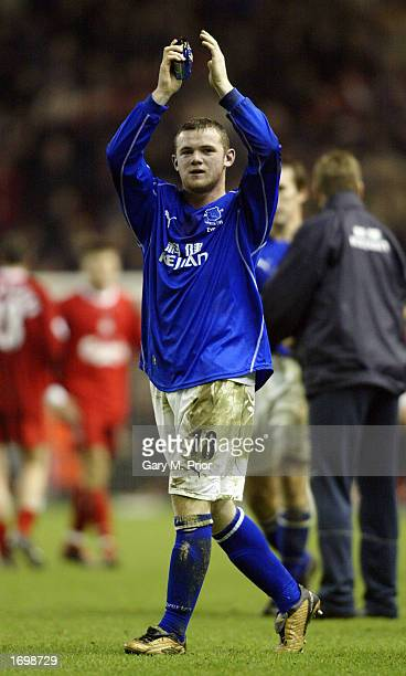 Wayne Rooney of Everton after the FA Barclaycard Premiership match between Liverpool and Everton at Anfield Liverpool on December 22 2002