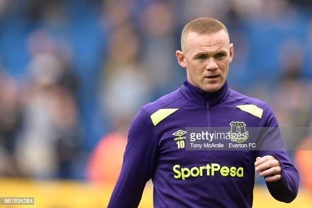 Wayne Rooney of Everton before the Premier League match between Brighton and Hove Albion and Everton at Amex Stadium on October 15 2017 in Brighton...