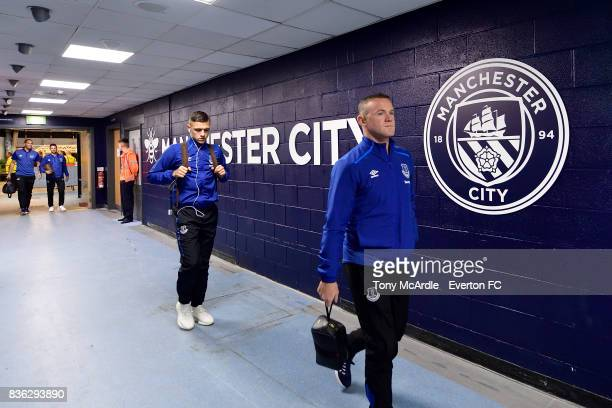 Wayne Rooney of Everton before the Premier League match between Manchester City and Everton at Etihad Stadium on August 21 2017 in Manchester England