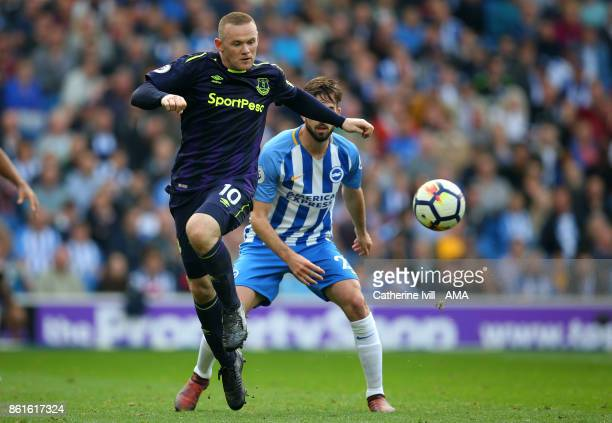 Wayne Rooney of Everton during the Premier League match between Brighton and Hove Albion and Everton at Amex Stadium on October 15 2017 in Brighton...