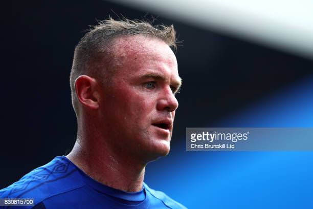 Wayne Rooney of Everton looks on during the Premier League match between Everton and Stoke City at Goodison Park on August 12 2017 in Liverpool...